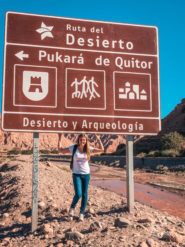 Placa Pukara de Quitor no Atacama