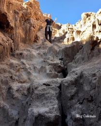 Mini escalada no Valle de la Luna