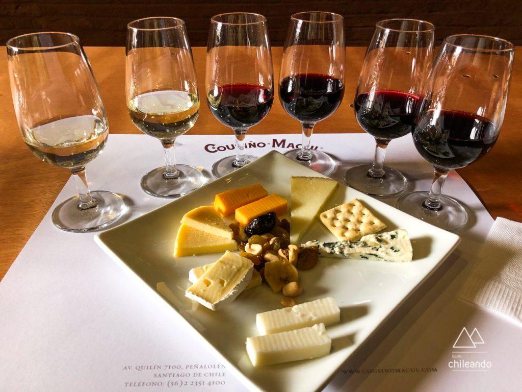 Tour e degustação harmonizada com queijos na vinícola Cousino Macul, em Santiago
