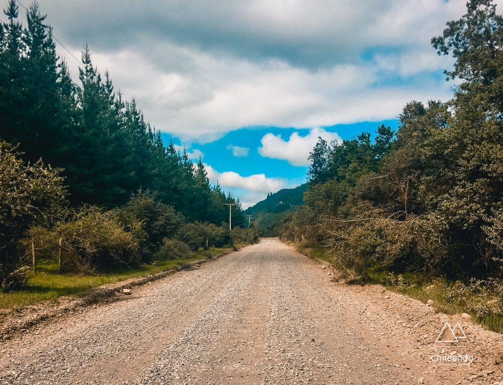 Via de acesso ao Parque Siete Tazas