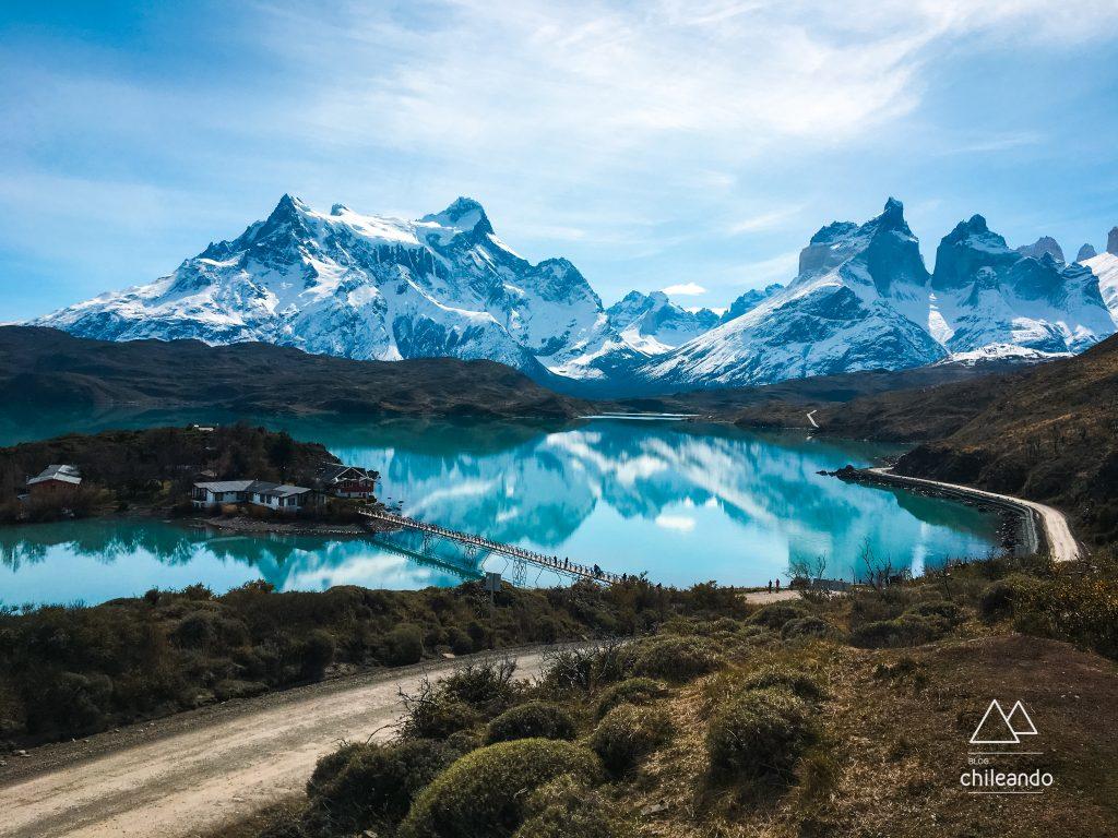 Lago Pehoé no Parque Torres del Paine
