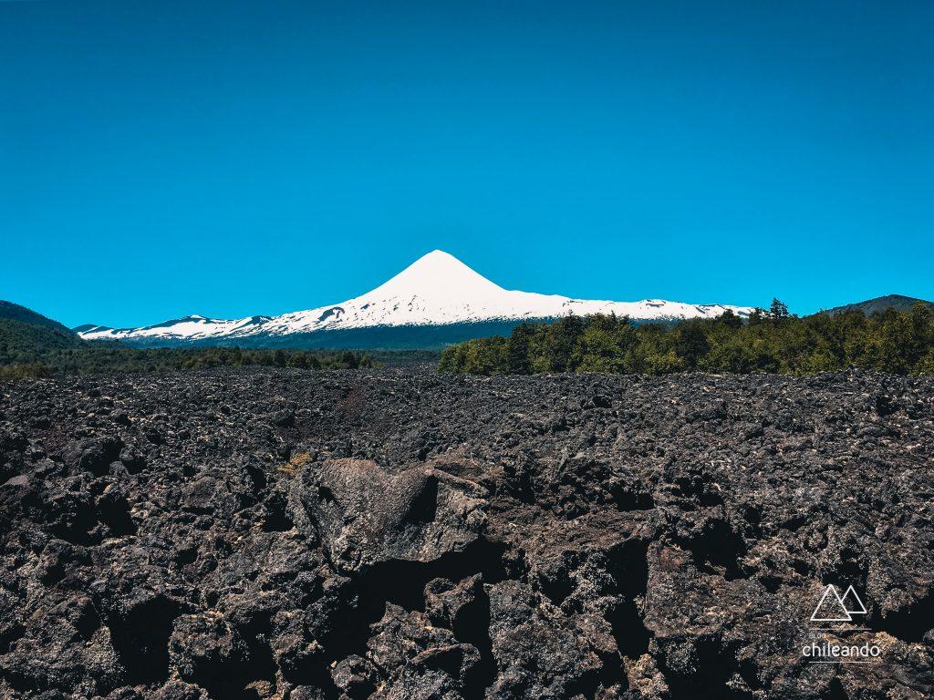 Campo de lava da erupção do Llaima de 1957