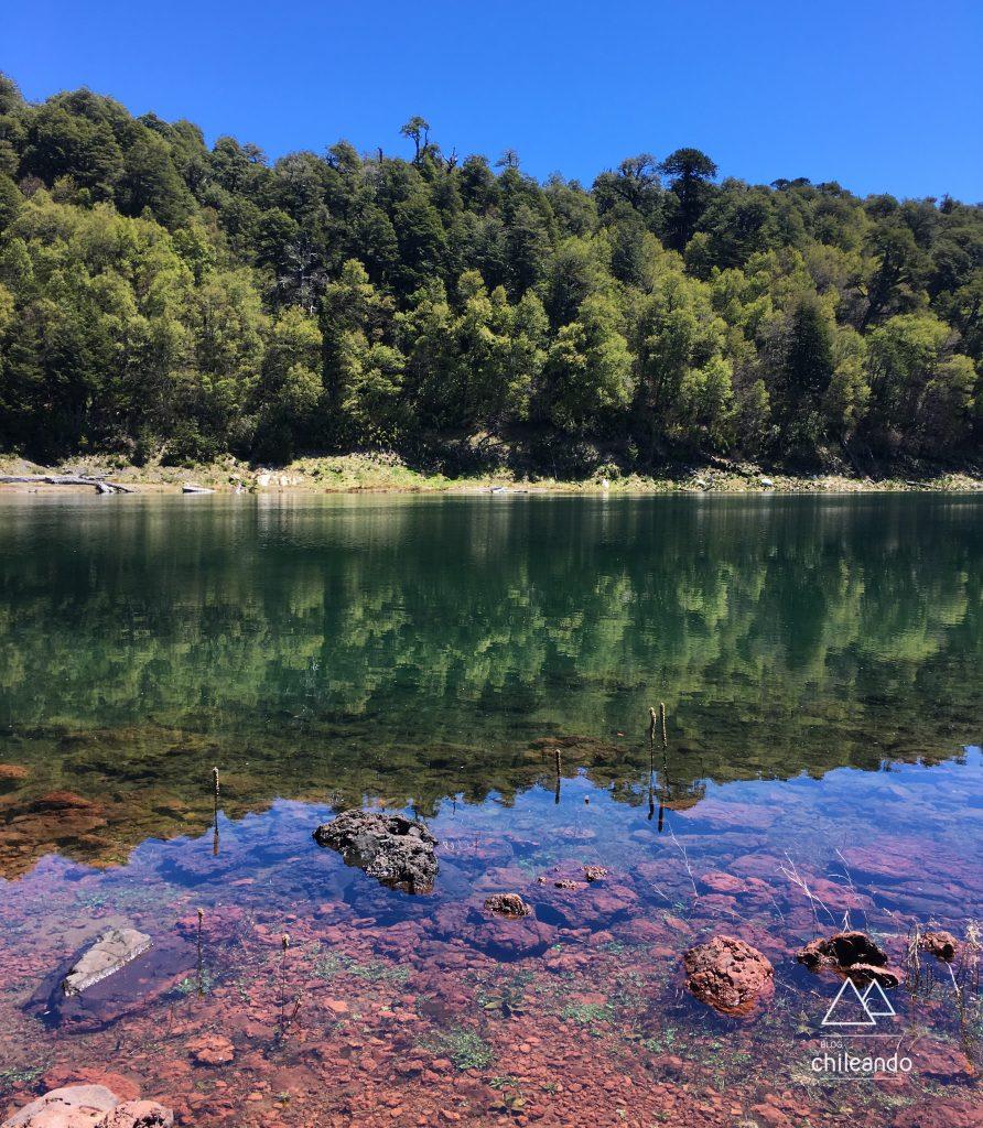 O Lago Conguillío é um dos pontos altos do parque