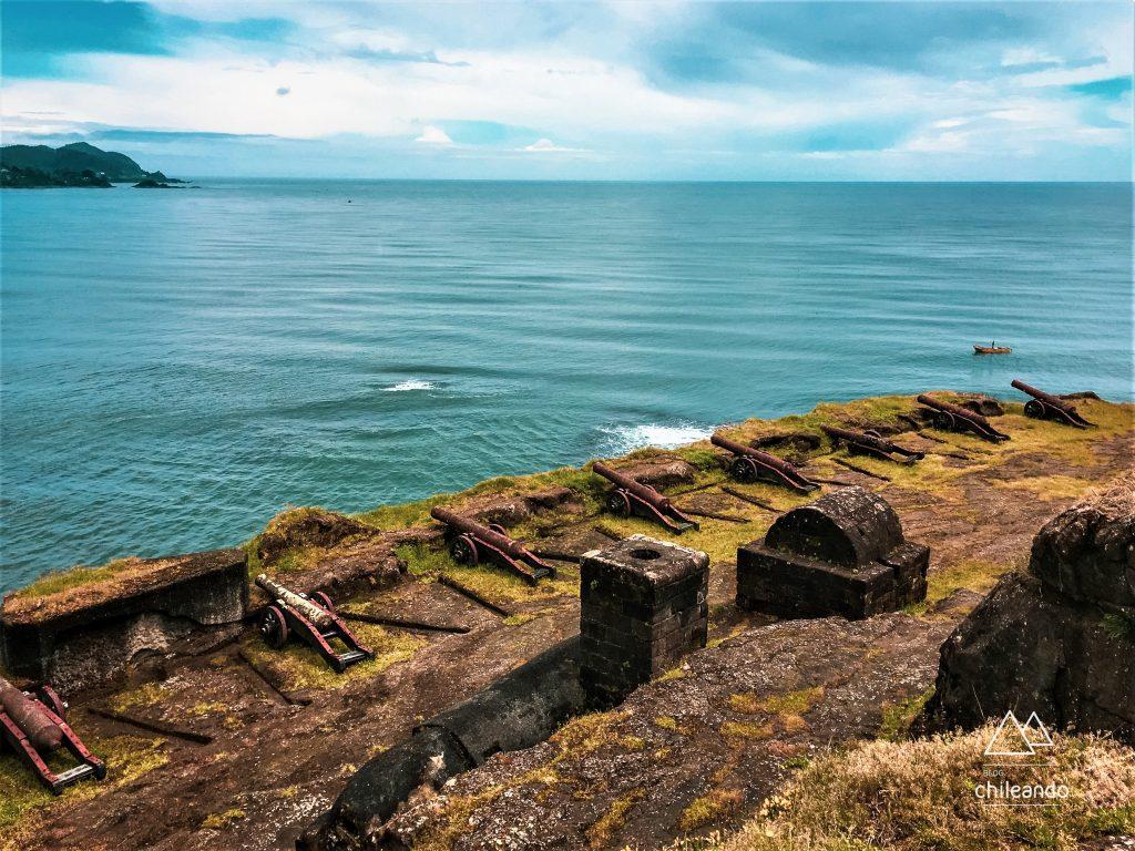 A baía de Valdivia já foi uma das mais fortificadas do mundo
