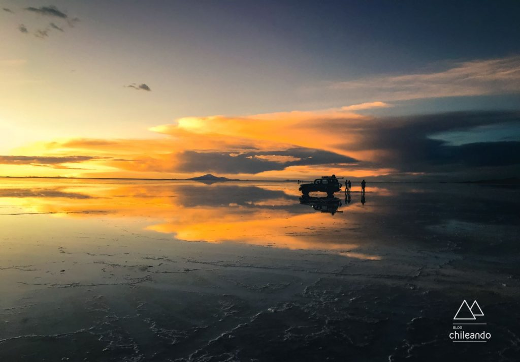 O efeito espelho do salar de Uyuni