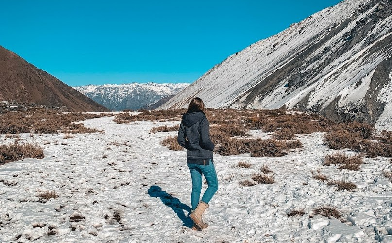 Neve em Cajón del Maipo, no Chile