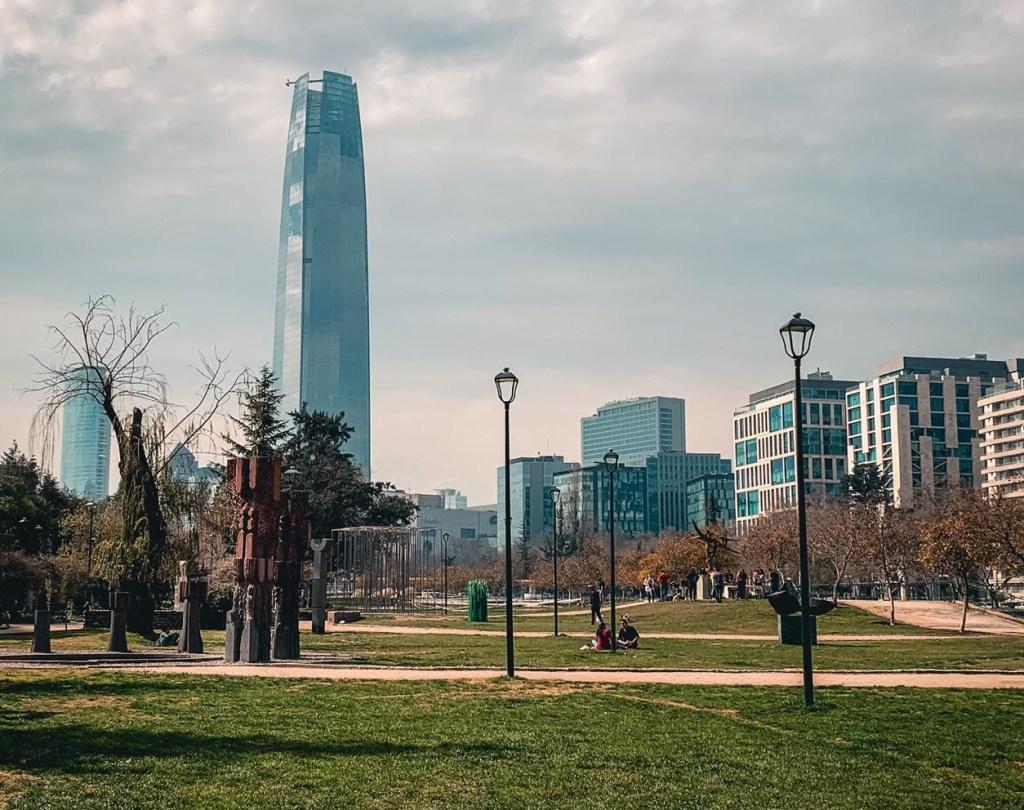 Picnic no parque de Santiago