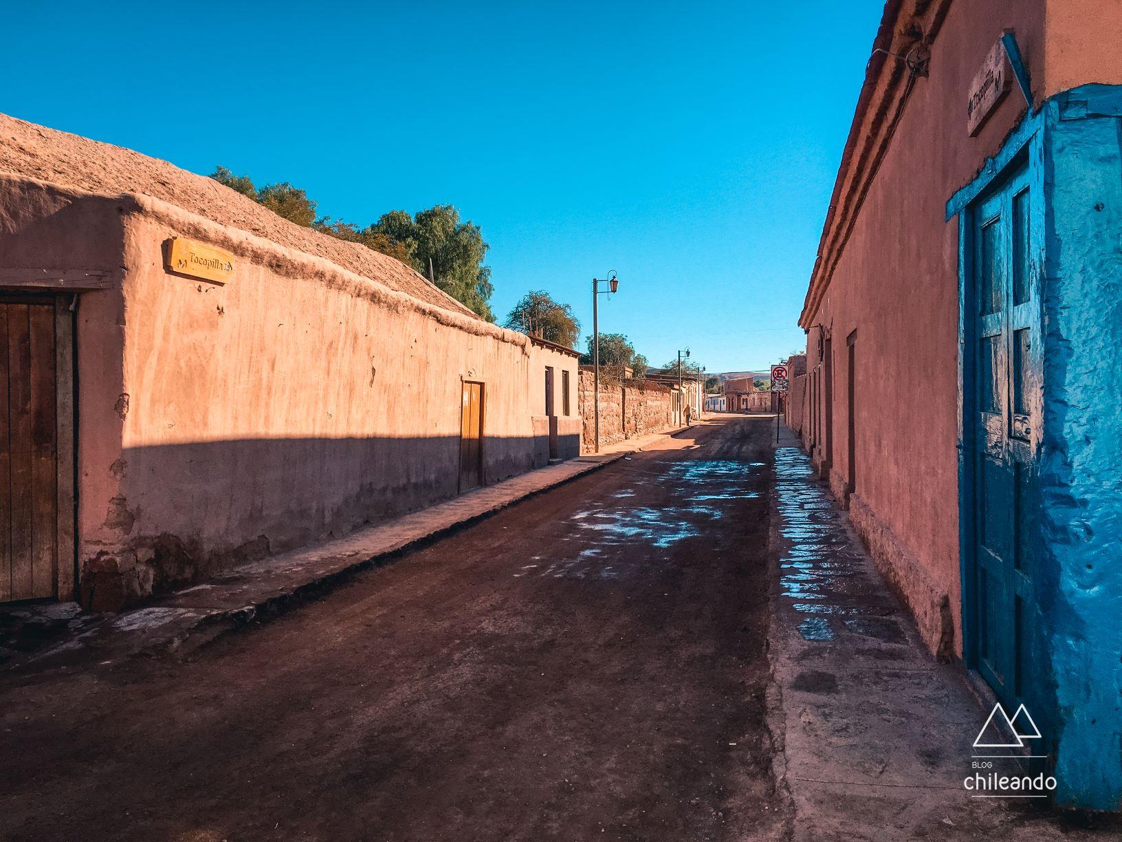 Rua de San Pedro ainda vazia pela manhã
