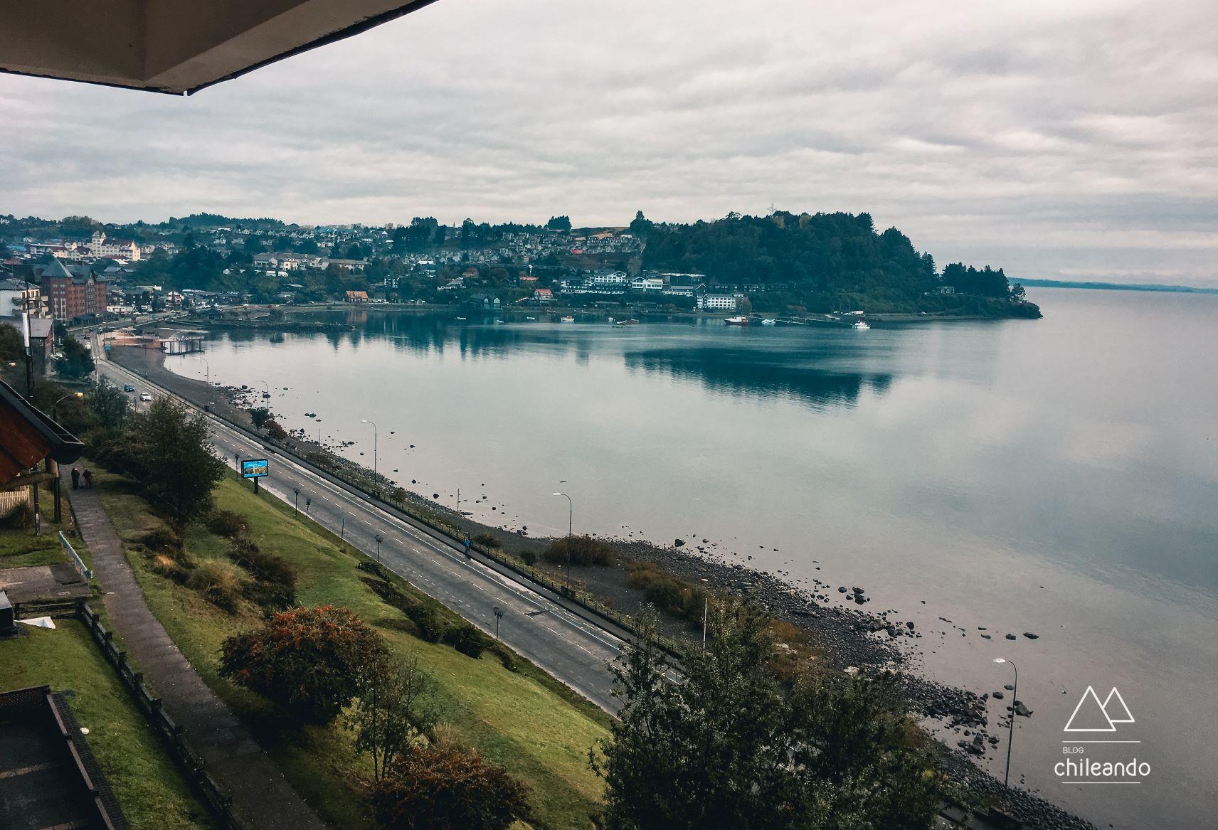 Vista da sacada do hotel Cumbres