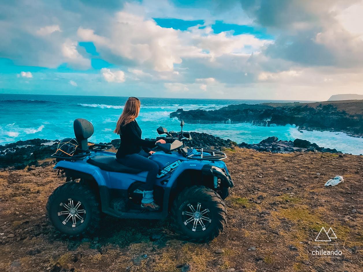 Quadriciclo na Ilha de Páscoa
