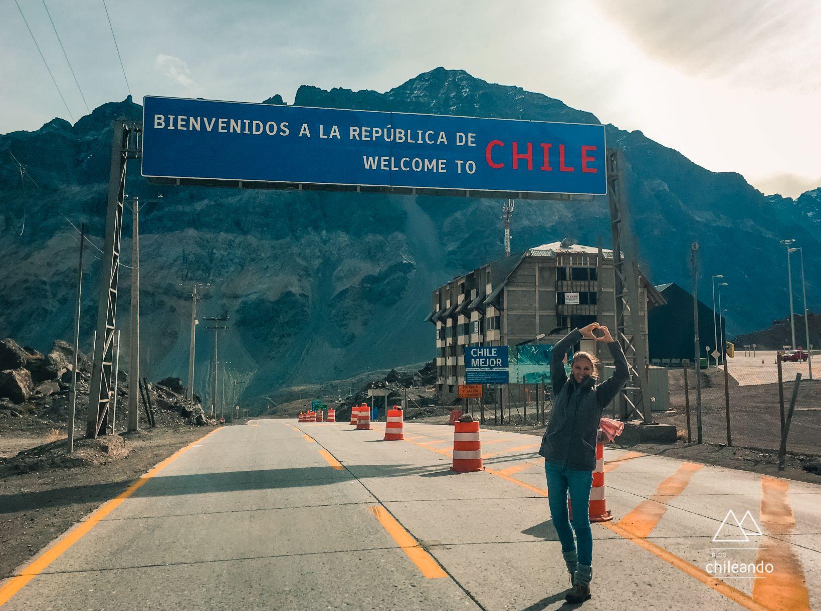 Fronteira do Chile com a Argentina, em Portillo