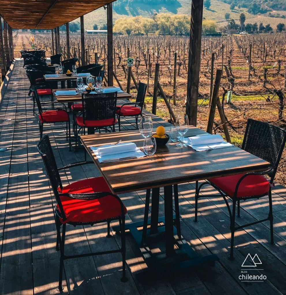 Comida perfeita e ambiente agradável no restaurante Fuegos de Apalta, em Colchagua