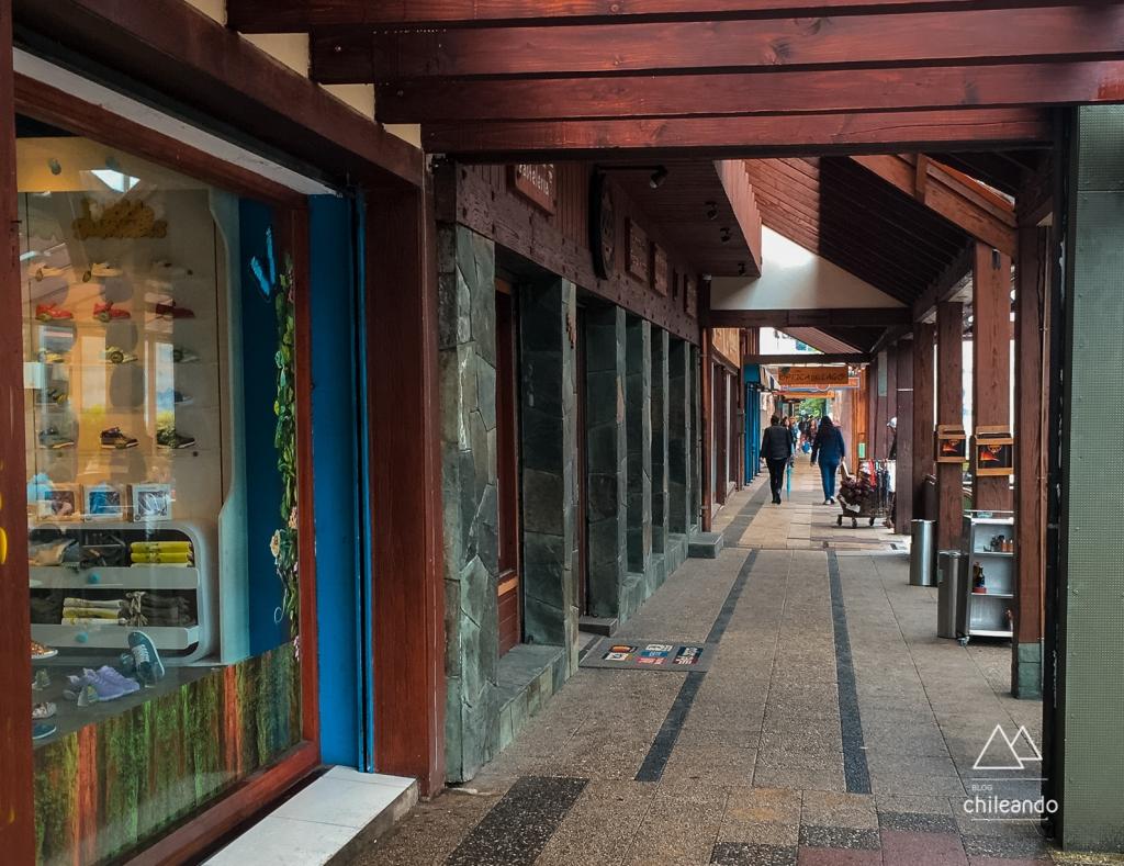 Rua do centro de Villarrica