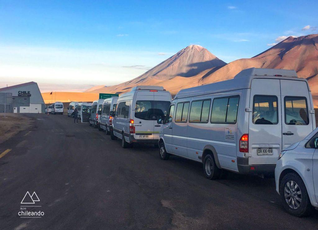 Controle de fronteira Hito Cajón, no Chile