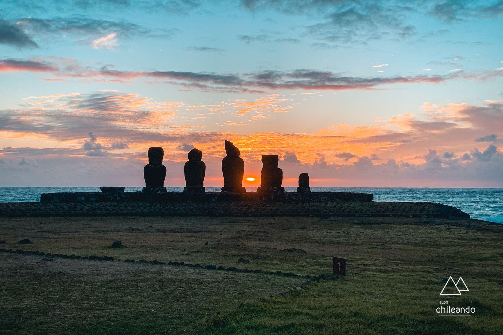 Pôr do sol em Tahai