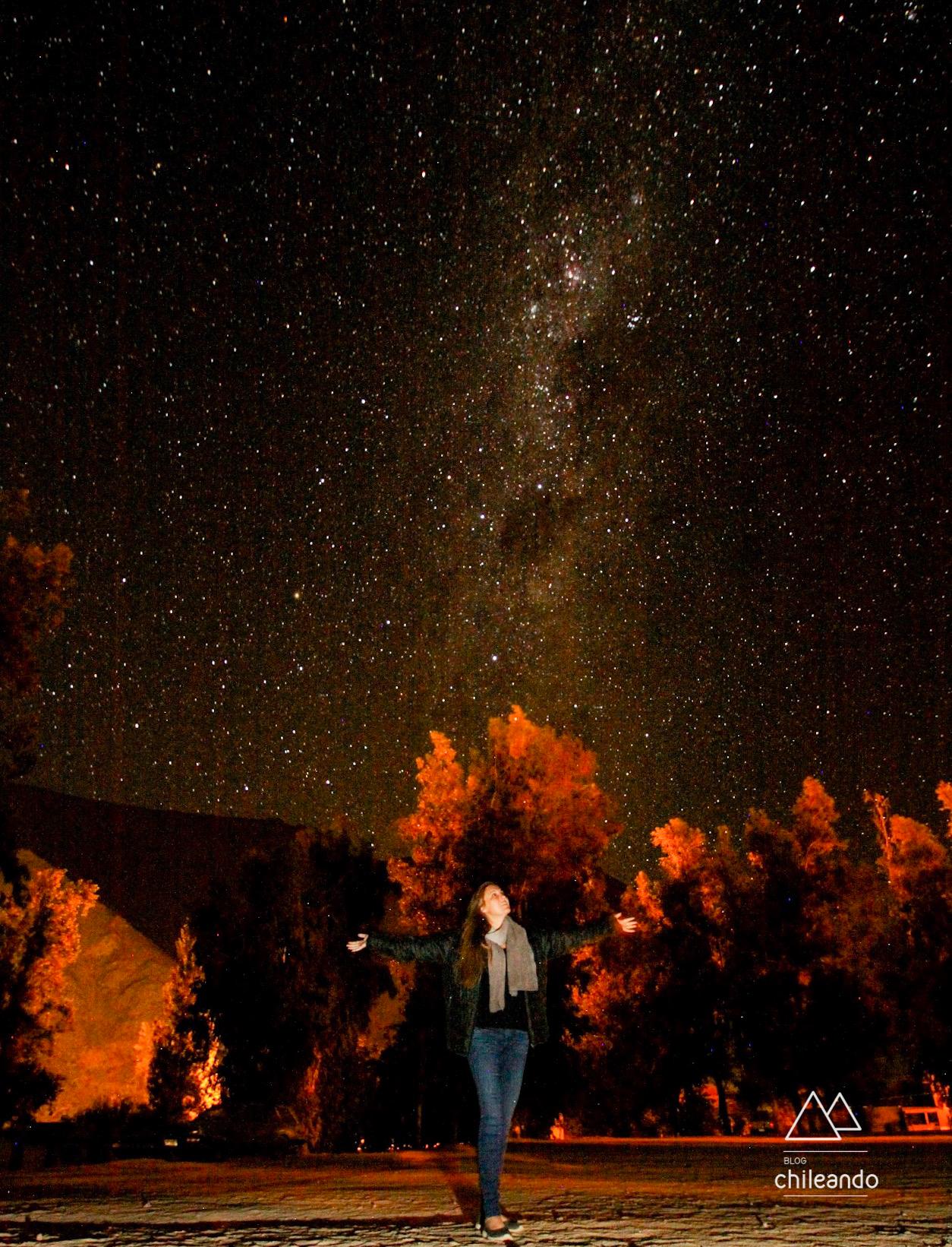 Eu e a via láctea durante o tour astronômico