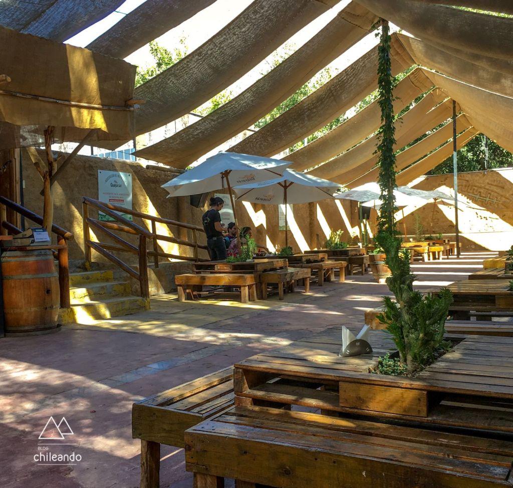 O bar da cervejaria Guayacán, no valle de Elqui