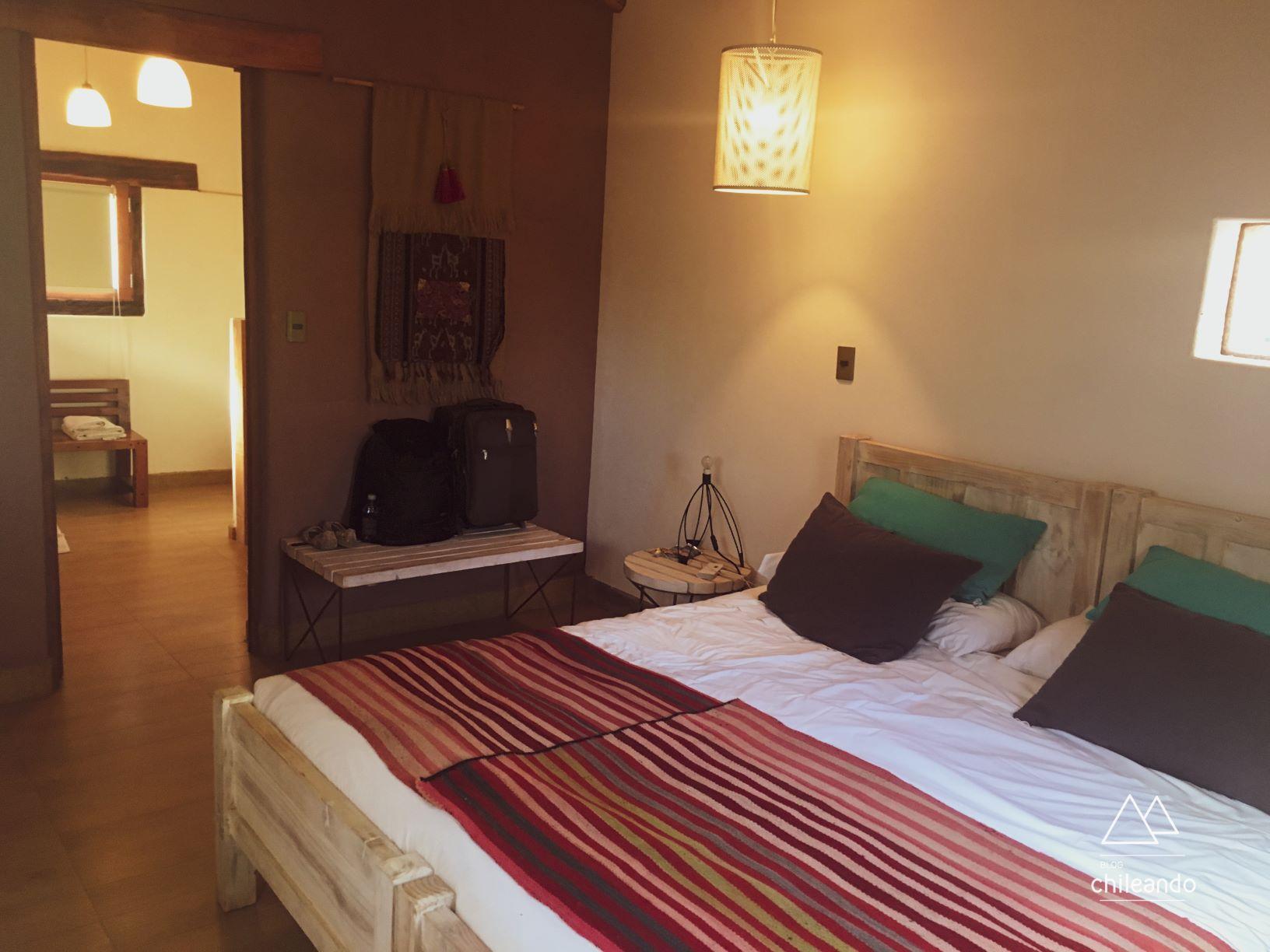 Quartos muito espaçosos no hotel Altiplanico do Atacama