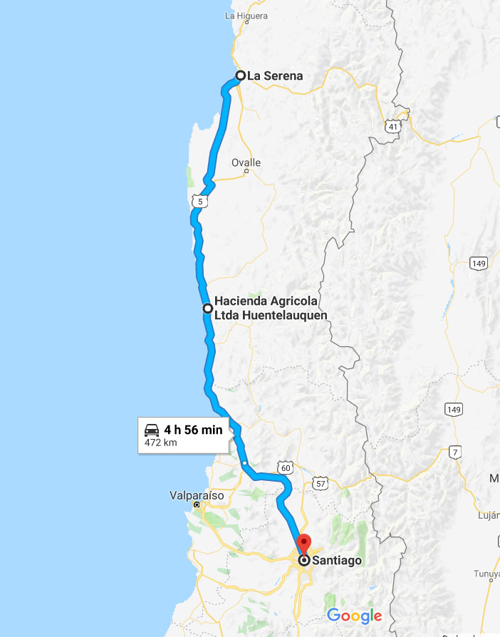 Passei por 5 pedágios entre Santiago e La Serena e gastei 14.700 pesos (84 reais)