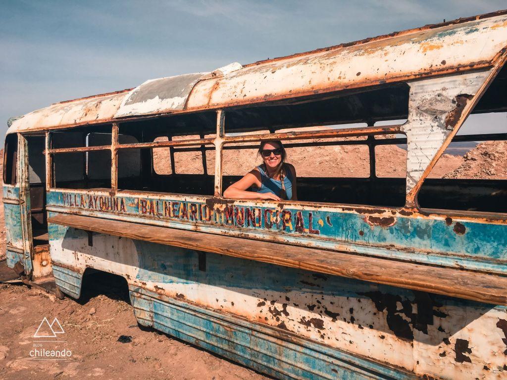 Ônibus eram usados no transporte público, no Atacama