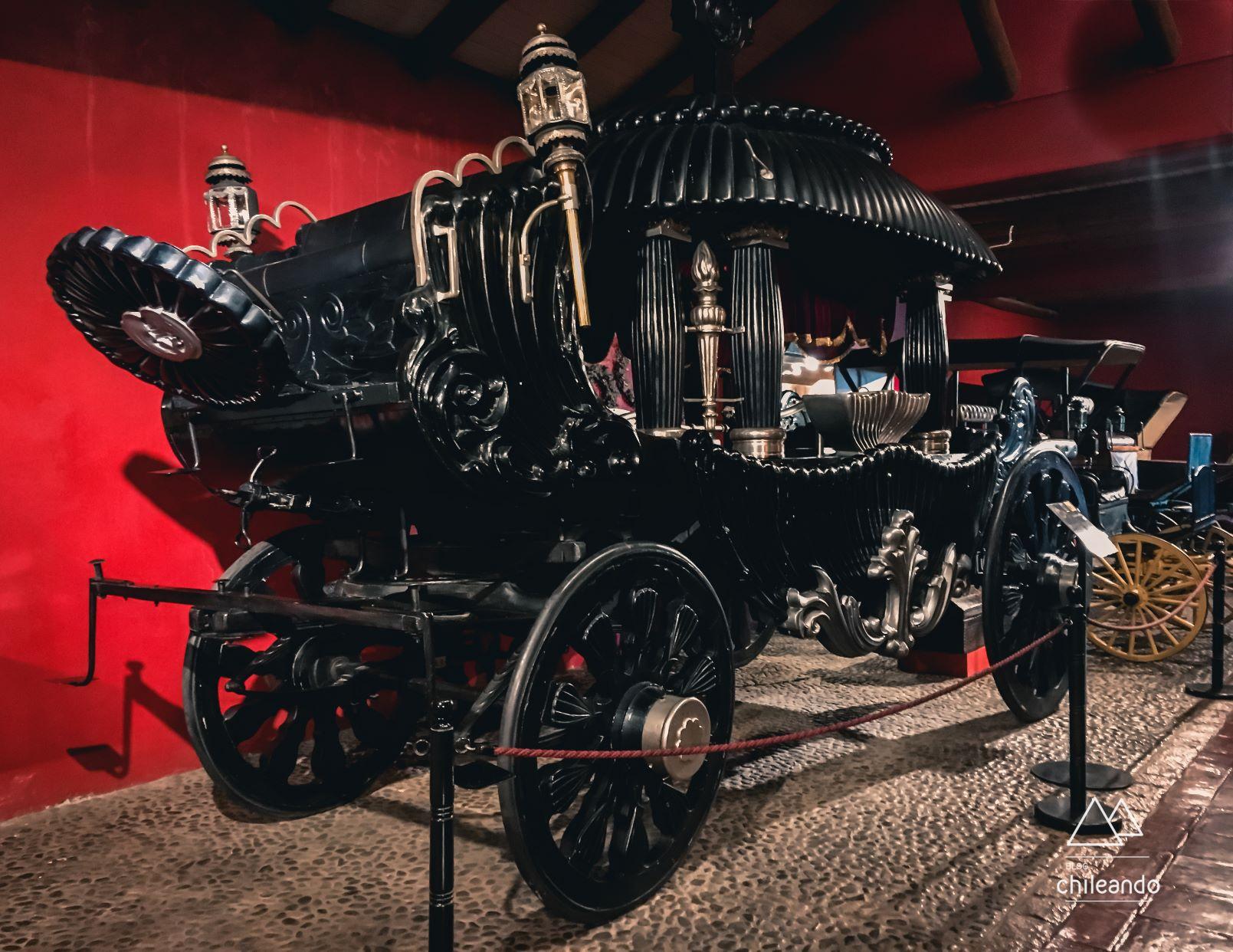 Área das carruagens no Museu Colchagua