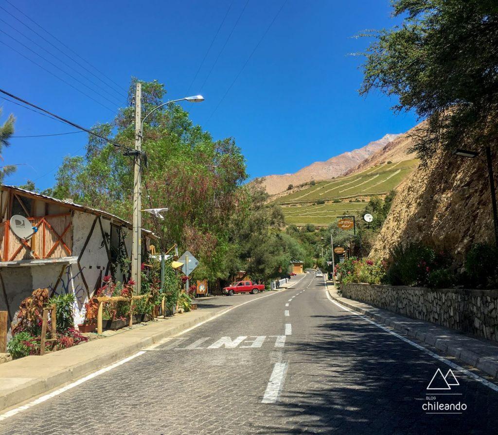 Arredores de Pisco Elqui, no valle del Elqui