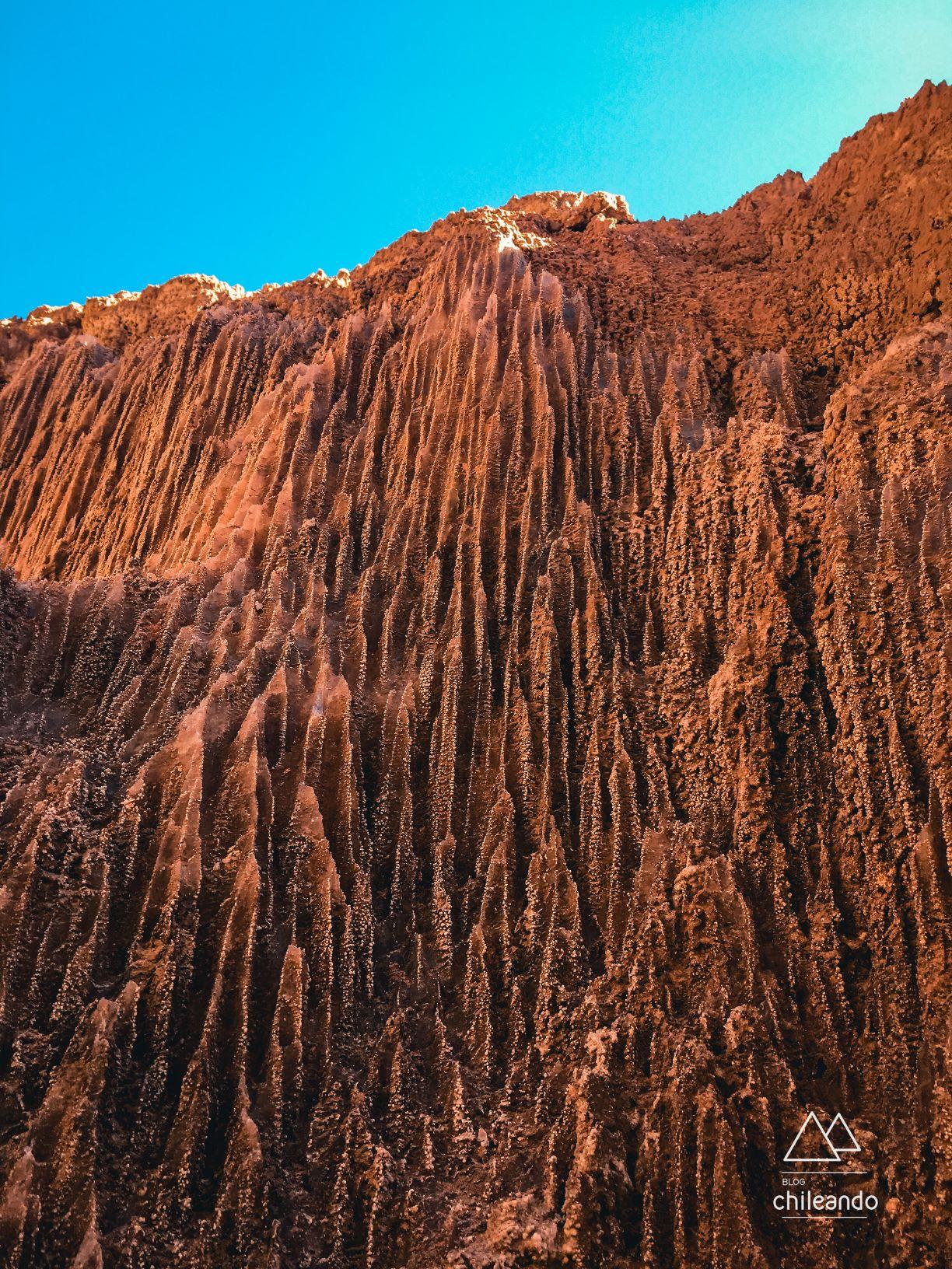 Formação rochosa do Valle de la Luna