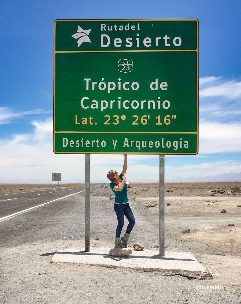 Atravessando o trópico, no Atacama