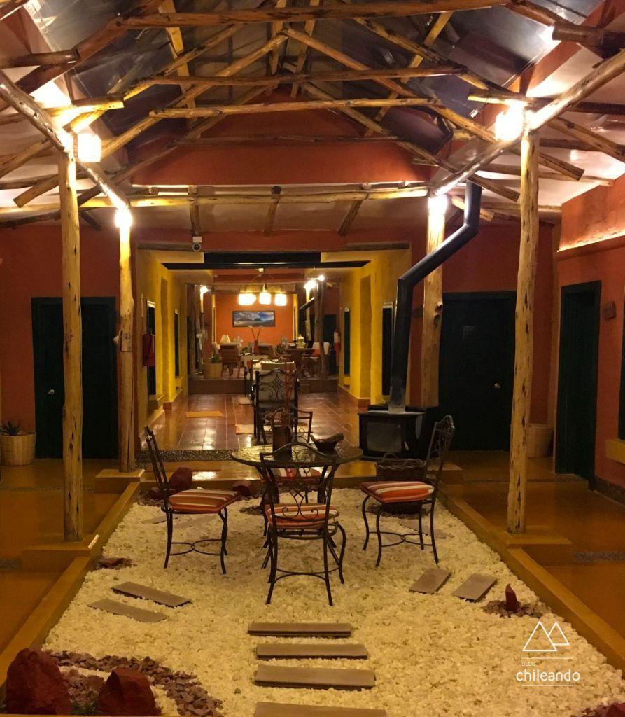 Saguão do hotel Jardines de Uyuni