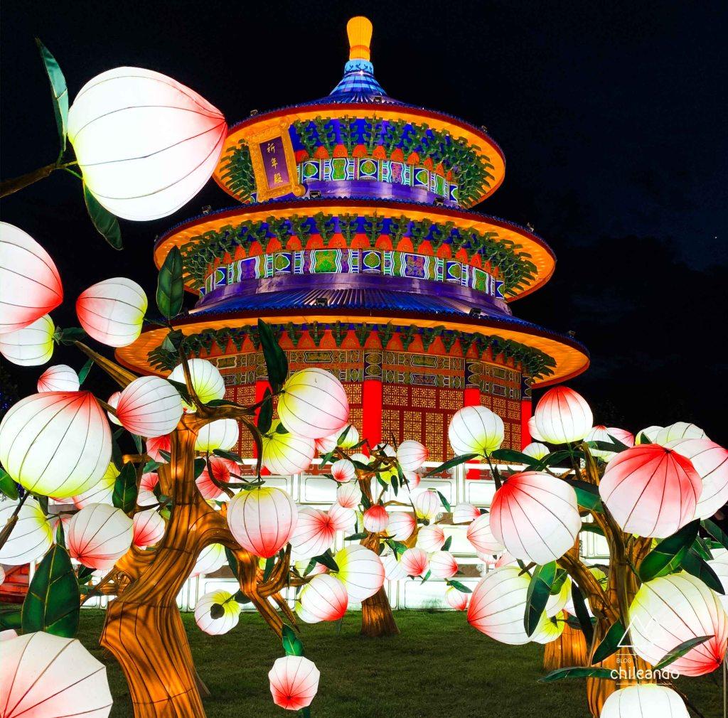 Festival de Luzes da China em Santiago