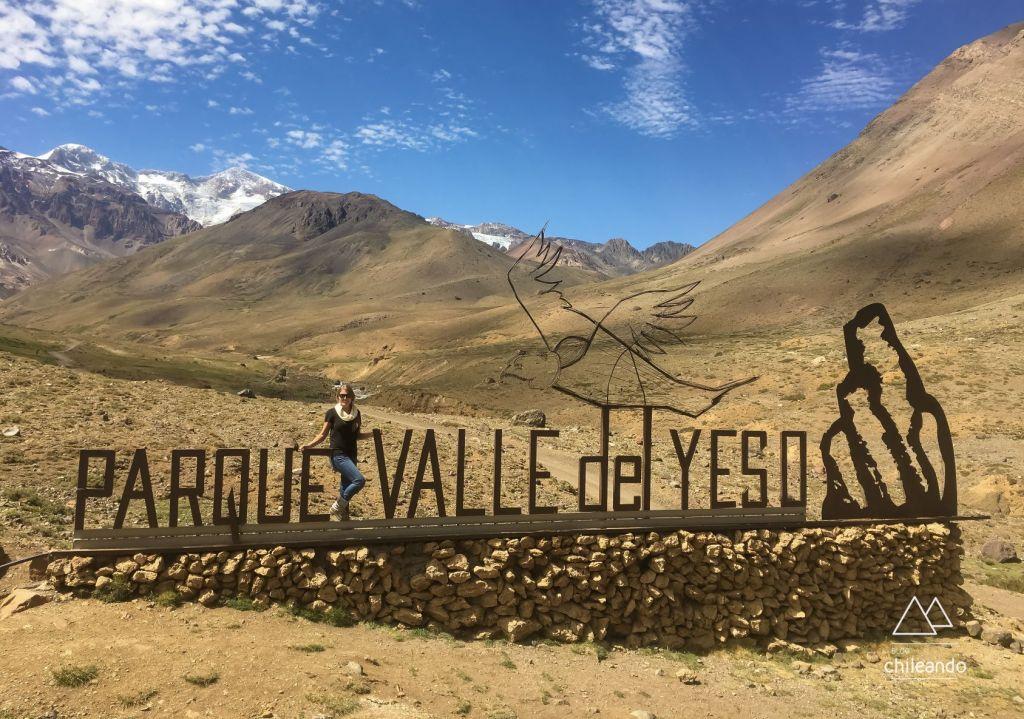 Entrada do parque Valle del Yeso