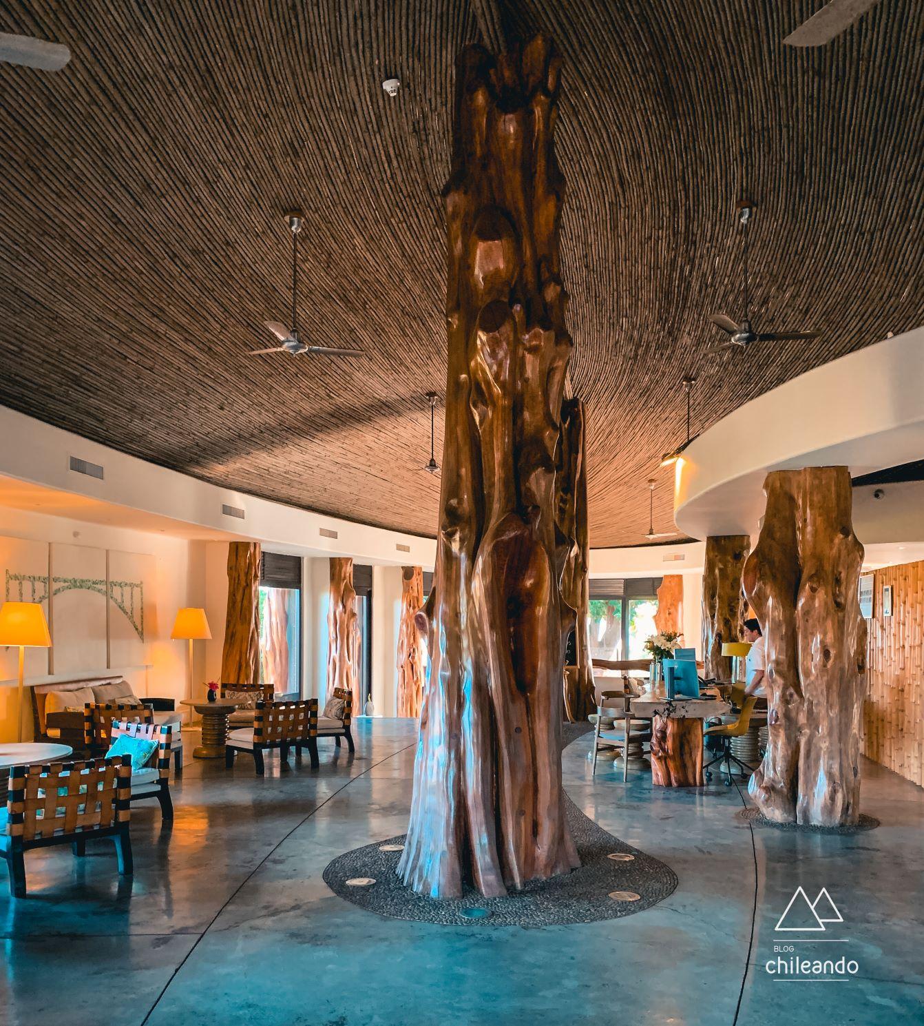 Lobby do hotel Hanga Roa