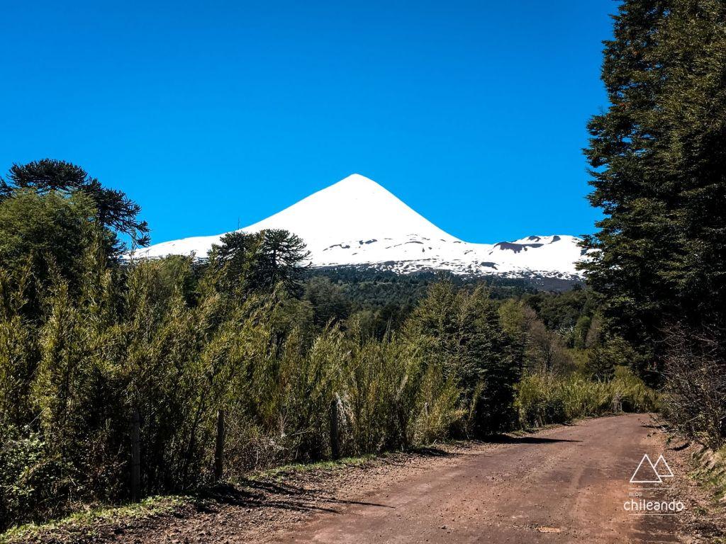 Rota viária do Parque Conguillío dá a volta no vulcão Llaima