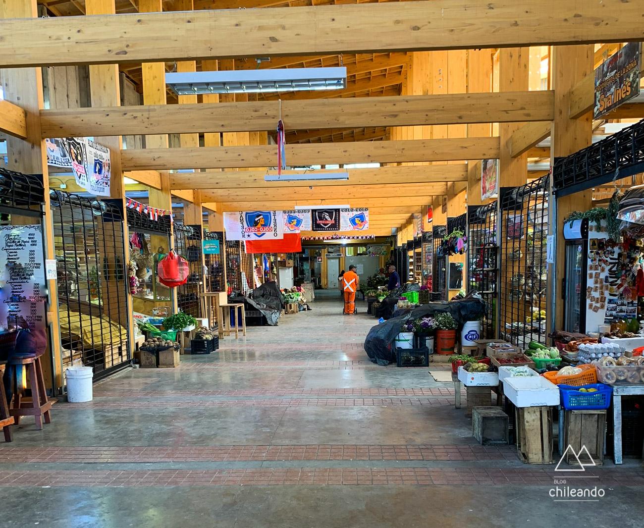 Feira artesanal Yumbel, em Castro