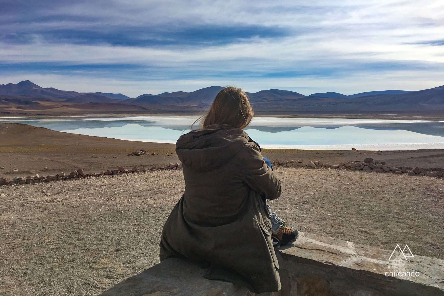 Lagoa Tuyacto no Atacama