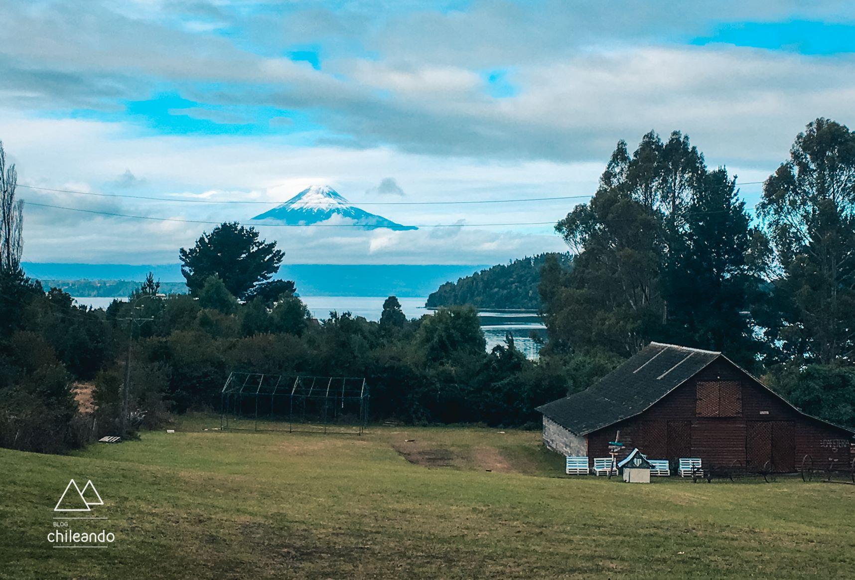 Vista do vulcão Osorno a caminho de Los Rios
