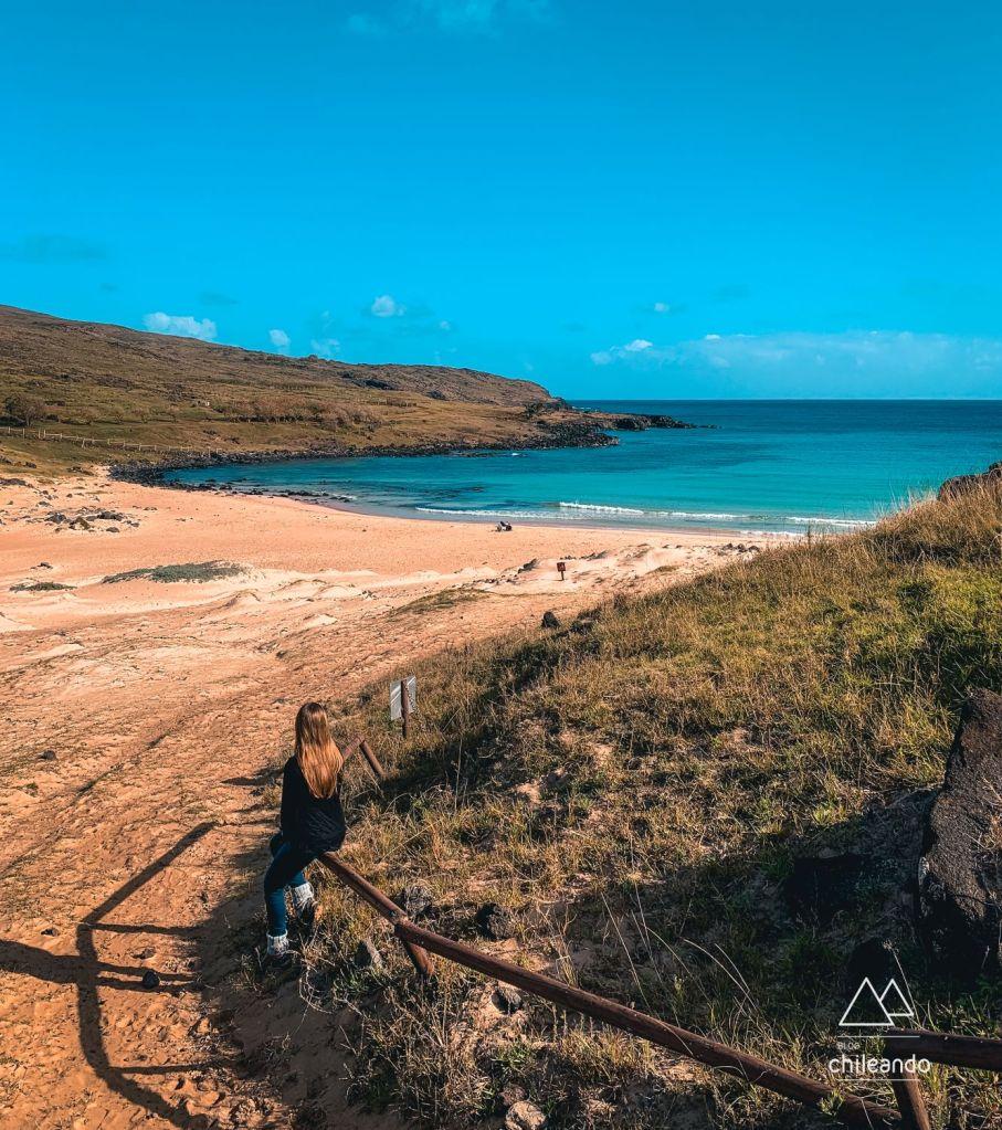 Hanga Rau, a praia paradisíaca da Ilha de Páscoa