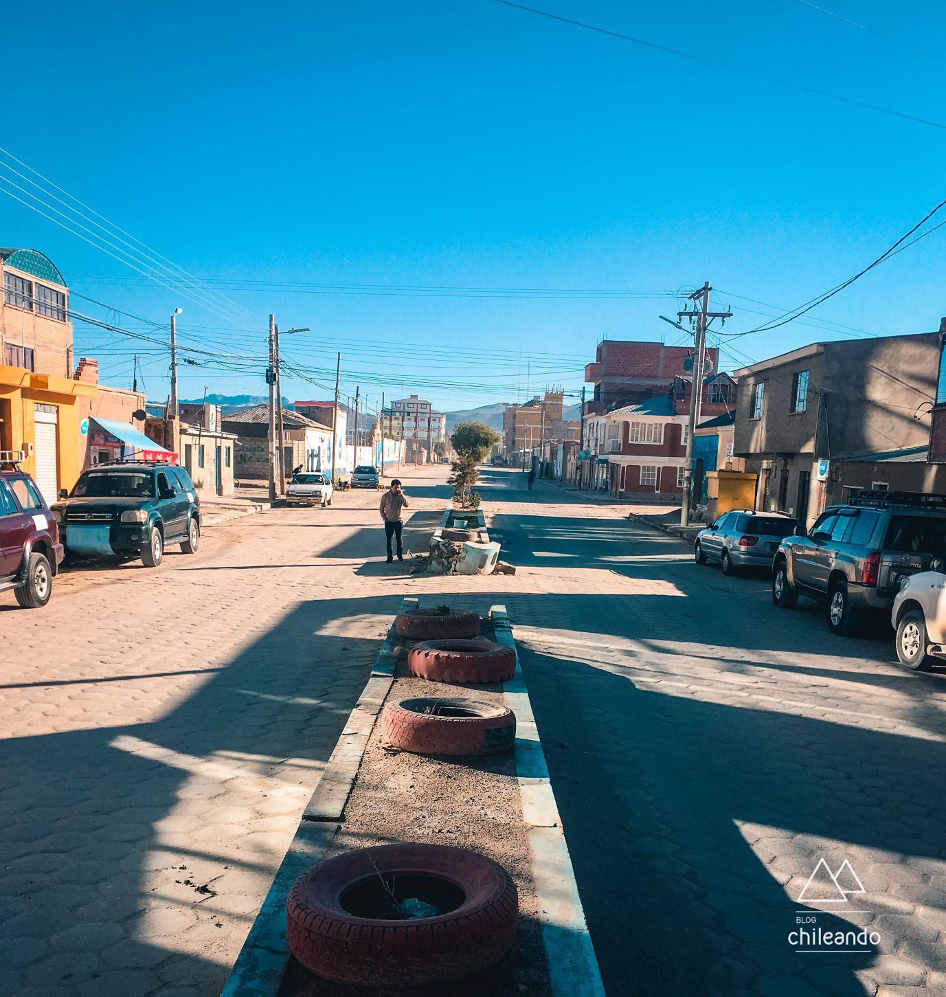 Rua da cidade de Uyuni
