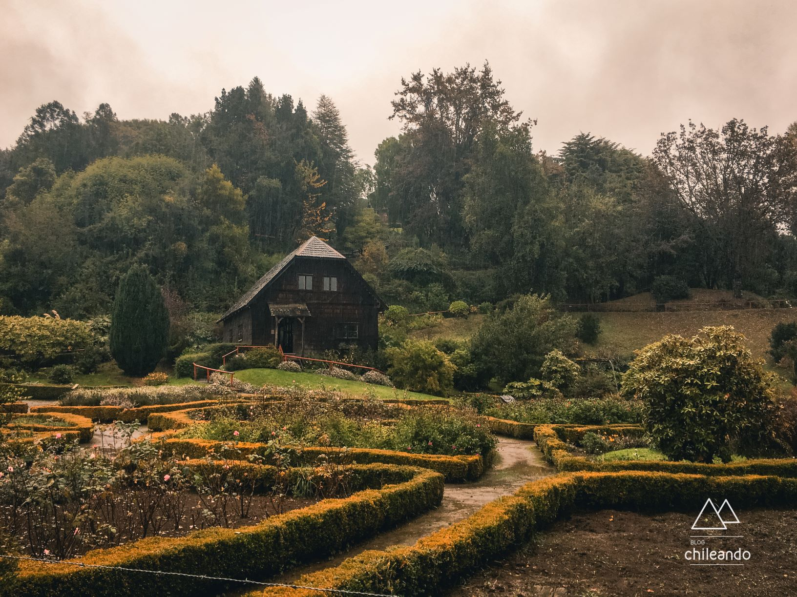 Jardins do Museu Colonial de Frutillar