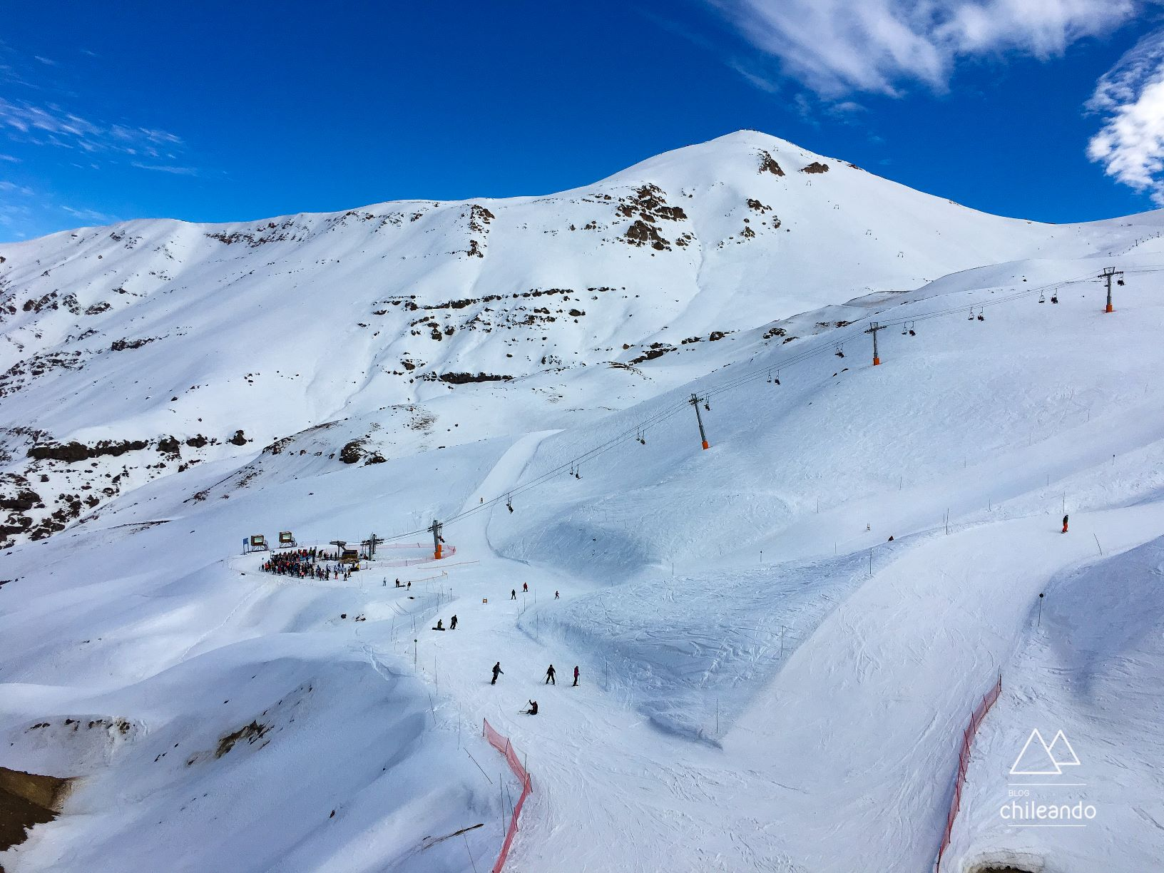 Pistas de esqui no Valle Nevado