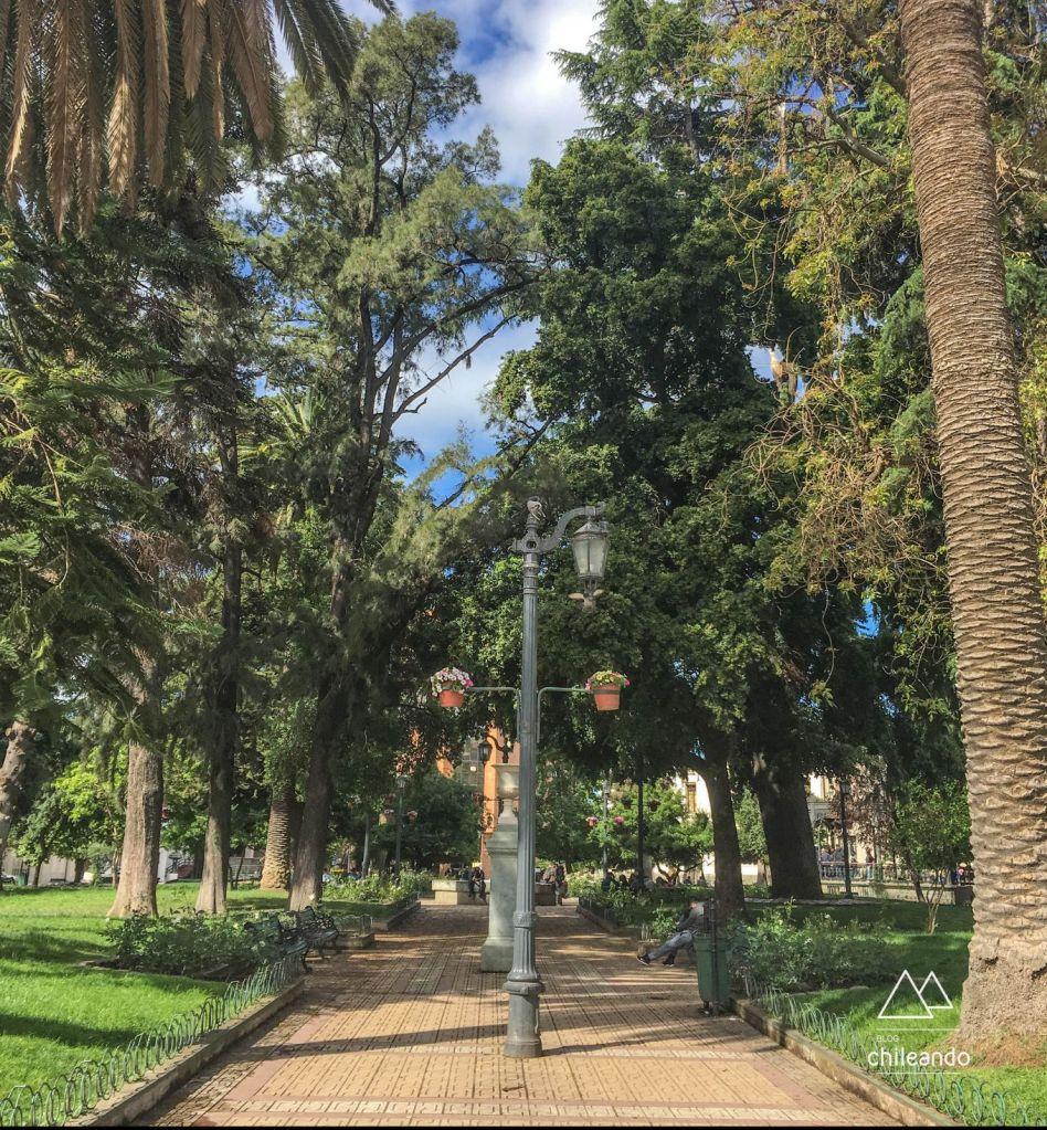 Praça de Talca a caminho de Pucon