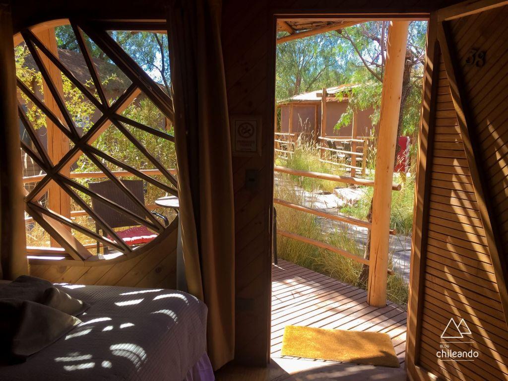 As cabanas têm varanda e um estilo todo... San Pedro!