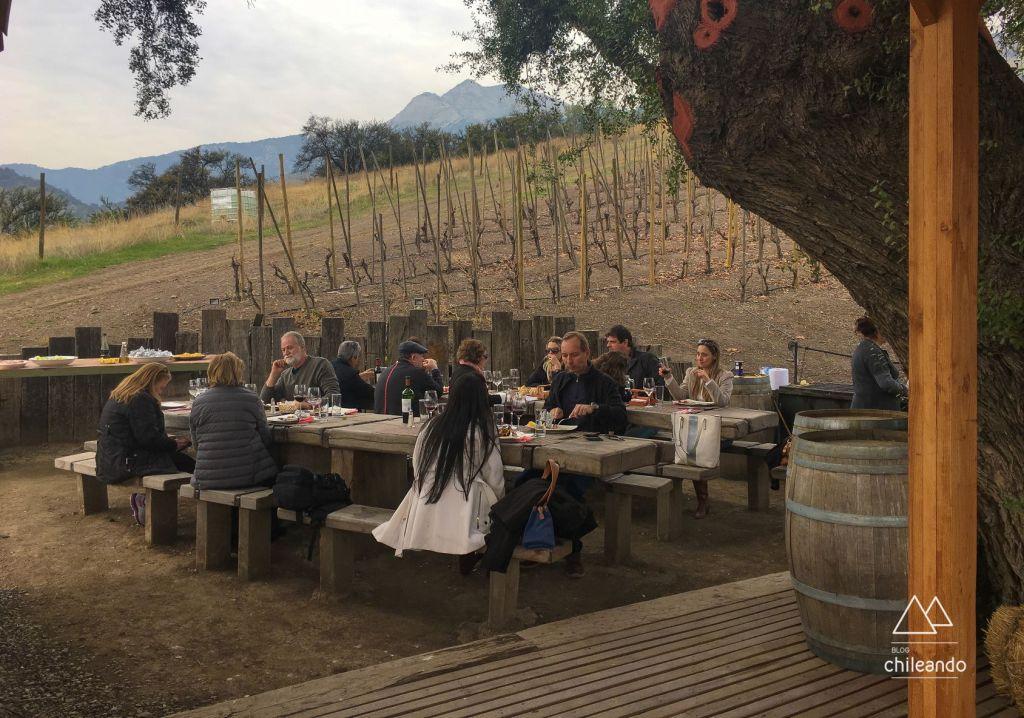Churrasco campestre na vinícola El Principal