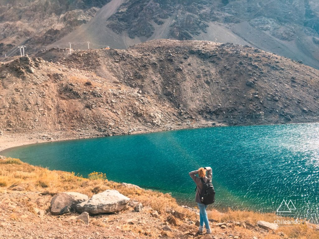 Laguna del Inca ainda sem neve, em Portillo