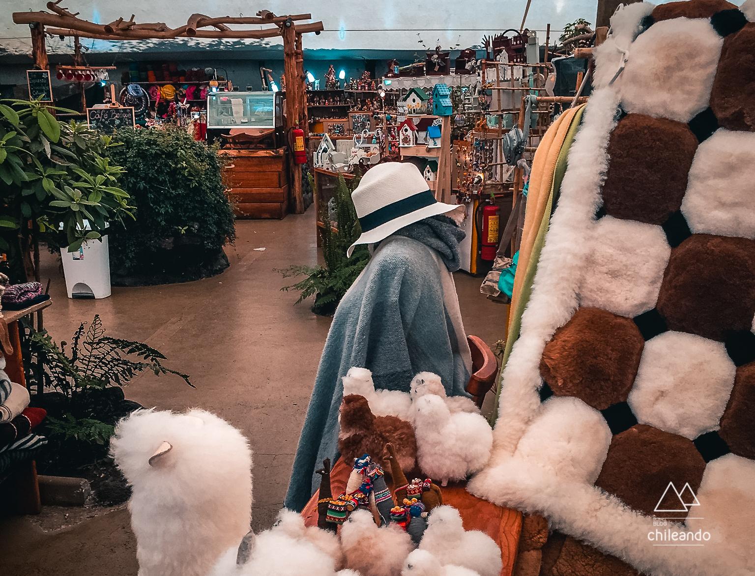 Feira de artesanatos em Pucón