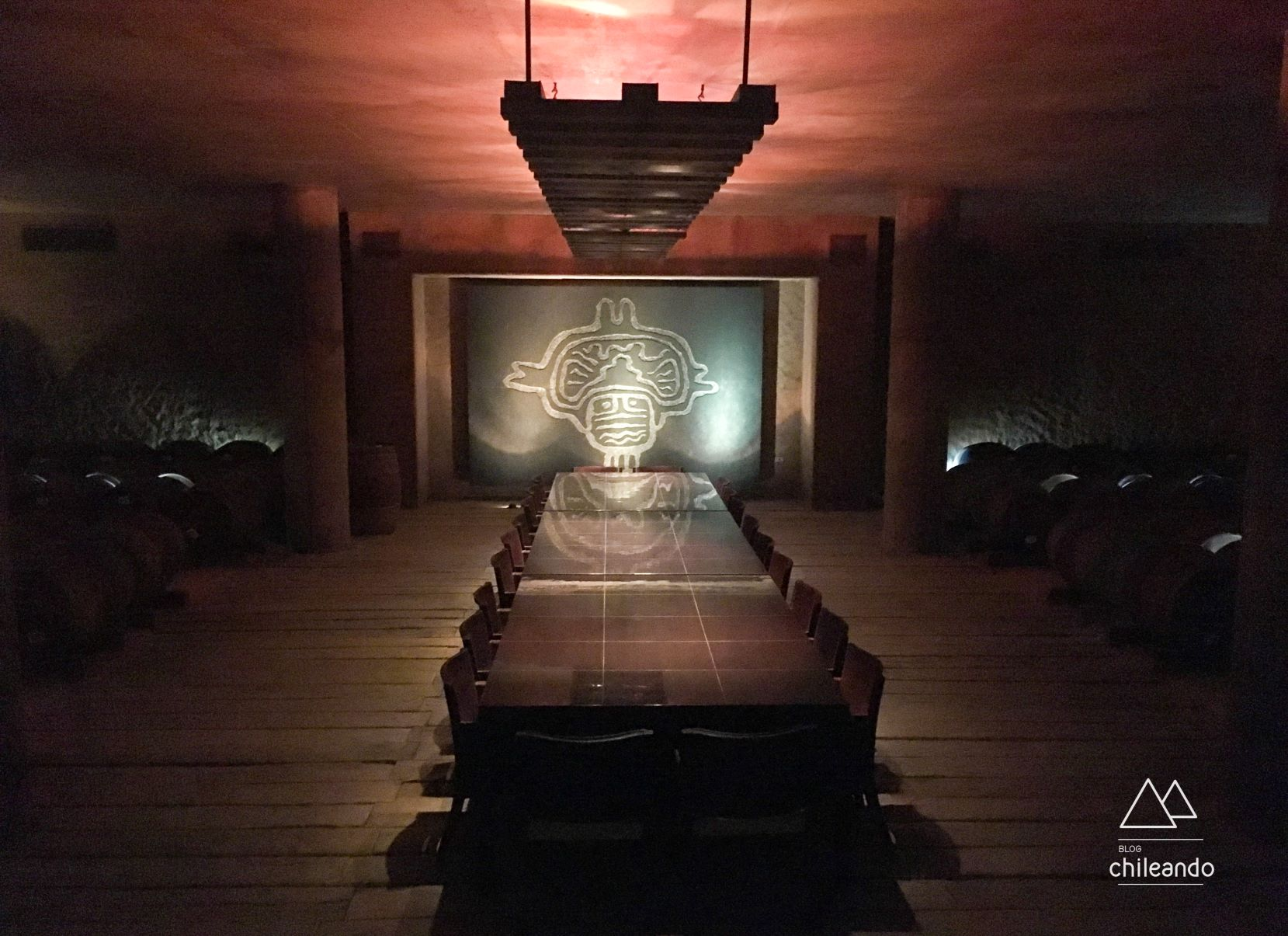 Sala de degustações e eventos da vinícola Tabali